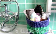 Scuola di Uncinetto: come fare un cestino per il bagno, crochet. box, tutorial