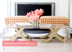DIY Upholstered X-Benches.