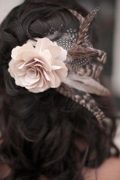 Wedding Hair: A Side Bun, Gorgeous Flowers, and a Huge Ass Veil