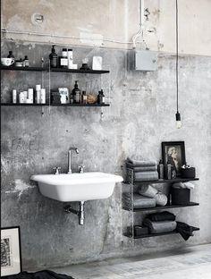 Concrete the new & dreamy bathroom material trend