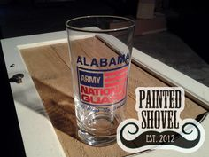 Vintage Alabama Army National Guard glass for sale at Painted Shovel in Avondale, AL.