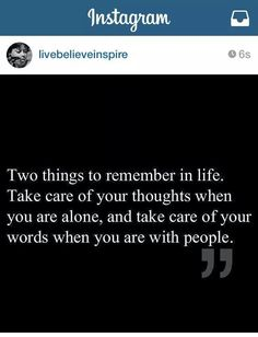 Take care your thought and words