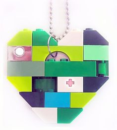 Collectible heart Single thickness Model 3 by MademoiselleAlma #MademoiselleAlma #LEGO #ETSY