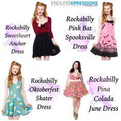Rockabilly Dresses! So cute!