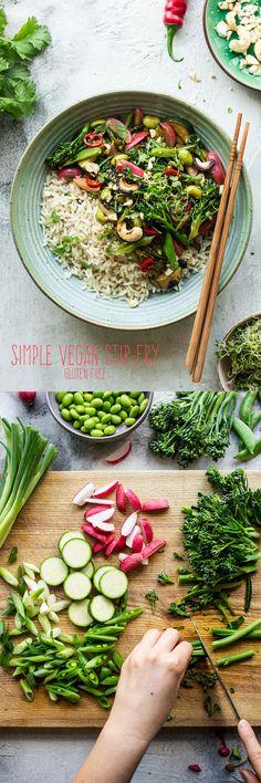 #vegan #stirfry #healthy #ginger #spring #glutenfree #vegetarian #lunch #dinner #simple #easy
