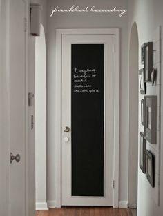 déco d'un panneau de porte chambre de jeune en ardoise