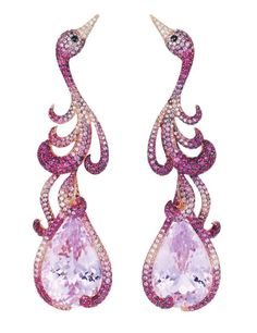 Flamingo Earrings from Red Carpet Collection by CHOPARD