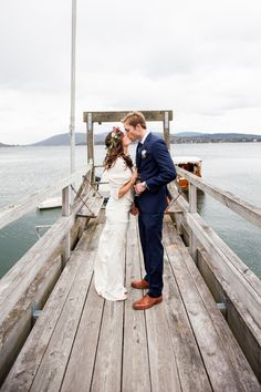 Harbor Wedding In Maine