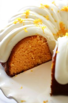 This Orange Creamsicle Bundt Cake is so moist and has such a refreshing flavor. It is loaded with a zesty orange taste and topped with an incredible cream cheese frosting!!