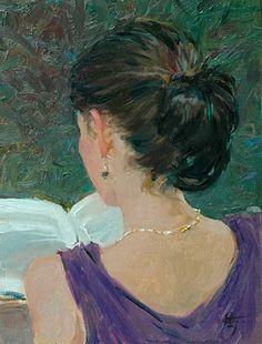 Reading and Art / David Hettinger ~Repinned Via Ladonna