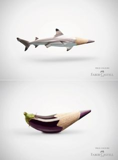 Faber-Castell colored pencil ads