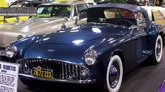 La Kurtis 500 M sport - Roadster, ce véhicule de collection fut fabriqué en 1954 à 19 ou 20 unités pour $8500 chaque, carrosserie roadster à deux places - moteur Cadillac 331cid.