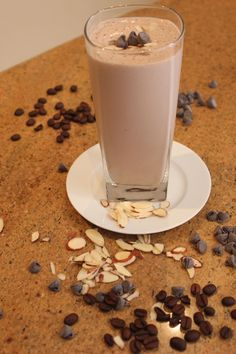 Healthy Recipe For Mocha Banana Split Protein Shake | Michelle Marie Fit