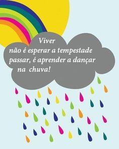dançar na chuva é o mesmo que confiar em Deus em tudo momento...e saber que alem das nuvens vem o Sol  abençoando sua dança na chuva