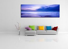 The sea illustrates its power and royalty in this incredible shot. $99, Elementem Photography, 20x60inches (50x150cm), canvas, ocean, sea, purple, waves, surf