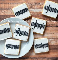 Music note cookies