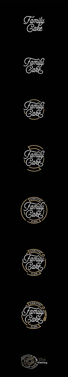 Family Cake on Behance