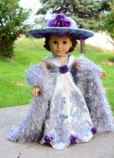 "Edwardian Titanic Downton Abbey Dress,Gown for 18""American Girl Samantha-Lumi  -- SOLD"