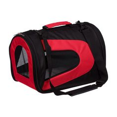 Sporty Pet Carrier in Red- to bring Bags with me when I travel.