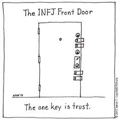 As an INFJ, you're sensitive, so you don't let just anybody into your life. aarontcaycedokimuradoor