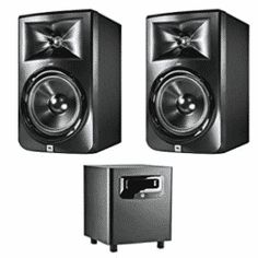 JBL LSR308 8-inch Two-Way Powered Studio Monitors (PAIR) w/ 1 JBL LSR310S Monitor, Technology, Studio, Cool Stuff, Top, Macs, Coloring Books, Boxes, Floral