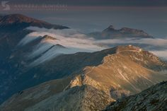 Flowing clouds. Tatra Mountains. Tatra Mountains, Carpathian Mountains, Sea Level, Flora And Fauna, Poland, Mount Everest, Maine, Clouds, Landscape