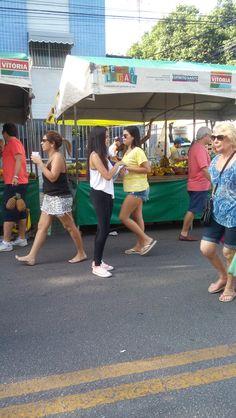 Panfletagem na Feira Livre de Jardim da Penha.
