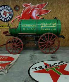 Early Standard Oil Company Delivery Wagon