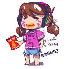 D.Va eating Doritos | Overwatch #GitGud