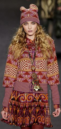 Anna Sui / High Fashion / Ethnic & Oriental / Carpet & Kilim & Tiles & Prints Inspiration /