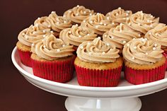 Vanilla Chai cupcakes.  I love this flavor and it's in the cupcake and buttercream in this recipe.  YUM!