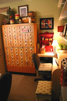 Library Card Catalog for craft storage - I want one of these!