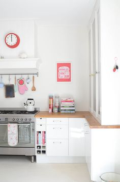 bright. white. cute. kitchen