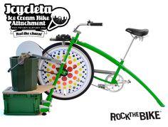 Icycleta Ice Cream Bike Attachment for Fender Blender Pros - Rock The Bike Diy Ice Cream, Ice Cream Maker, Bicycle, Rock, Snow, Veil, Blue Prints, Bike, Bicycle Kick