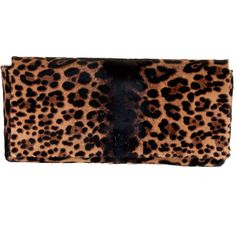 Christian Louboutin Vice Versa Leopard Clutch ❤ liked on Polyvore