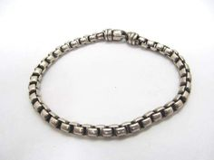 shopgoodwill.com: DAVID YURMAN Sterling Silver Box Chain Bracelet