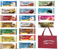 Quest Nutrition Protein Bar Variety Pack of All 18 Quest Bars Flavors Includes Blueberry Muffin and Oatmeal Flavors -- See this great product. Quest Protein Bars, Peanut Butter Protein Bars, Quest Bars, Quest Nutrition, Nutrition Bars, Ww Recipes, Snack Recipes, Oatmeal Flavors