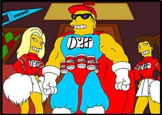 Duff Beer in The Simpsons. Later someone registered the brand and started selling beer.