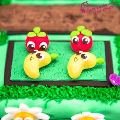 Farm Heroes Super Saga Cake, fondant cropsies and iPad Giveaway!