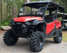 "Honda Pioneer 1000 Lift Kit with 30"" Tires & Wheels! Check out more 1000cc Side by Side ATV / UTV pictures @ www.HondaProKevin.com   Custom 2016 Honda Pioneer 1000 & 1000-5 Pictures / Photo Gallery 