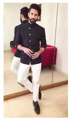 Sleek and understated engagement suit for man, engagement dresses, indian engagement outfit, blazer Wedding Kurta For Men, Wedding Dresses Men Indian, Indian Wedding Wear, Wedding Dress Men, Wedding Men, Wedding Outfits For Men, Men's Wedding Wear, Casual Wedding Outfit Mens, Man Suit Wedding