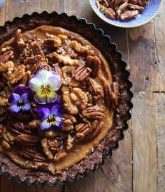 Salted Caramel Pecan Pie (Vegan and Gluten Free) Decadently delicious