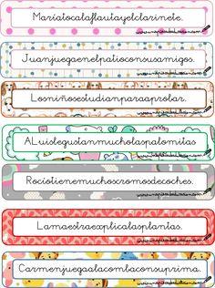 separar frases Daily Five, Reggio Emilia, Dyslexia, Spanish Language, Primary School, Third Grade, Sentences, Montessori, Literacy