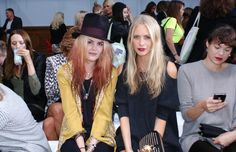 "Natalie Hughes is accessing all areas at for ASOS: ""The Kills' Alison Mosshart and model citizen Poppy Delevigne are front row at Sass & Bide. Latest Fashion Clothes, Latest Fashion Trends, Fashion Outfits, Alison Mosshart, Asos Online Shopping, London Fashion, Citizen, Poppy"
