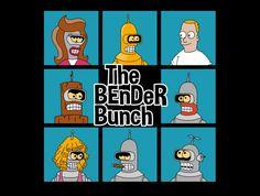 The Bender Bunch T-Shirt - Futurama T-Shirt is $15 at TeeFury!