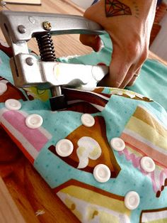Make your own cloth diapers.. I would love to try this at least once.