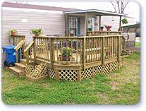 diy decks and porch for mobile homesMobile Homes Free Deck