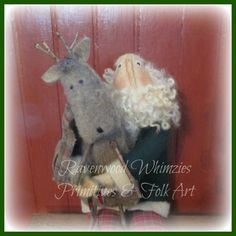 Primitive Santa Prim Santa claus Primitive by RavenwoodWhimzies