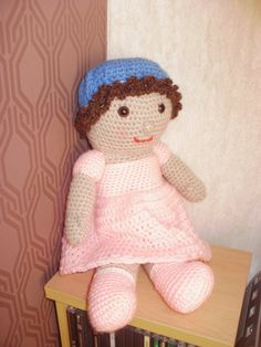 Hand Crochet Dressable Girl Doll by ClementCrafts on Etsy Hand Crochet, Girl Dolls, Dinosaur Stuffed Animal, Teddy Bear, Trending Outfits, Toys, Unique Jewelry, Handmade Gifts, Animals