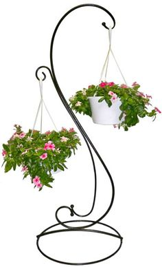 Elegant Scroll Double Plant Stand                                                                                                                                                                                 More